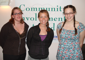 Cheryn Scripter, Amanda Alling, and Elizabeth Curtis all won our $1,000 scholarship.