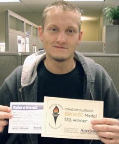 American 1's membership winner for April