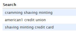 cramming shaving minting?