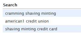 cramming shaving minting?