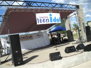 Teen Idol stage in downtown Jackson