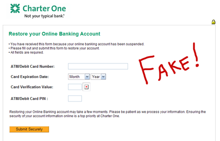Fraud phishing site