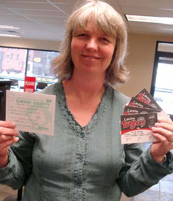 Sharon wins Lugnuts tickets