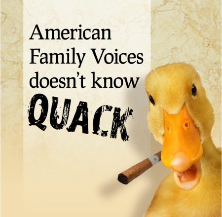 American Family Voices doesn't know quack