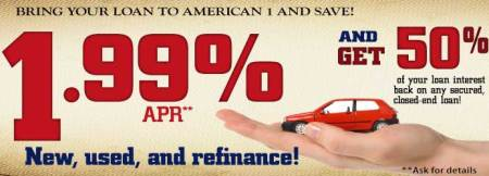 April is the month for a Low APR and a Rebate